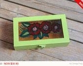 Sale -  Decorative Wood Box, Jewelry Box, Pen Storage Box