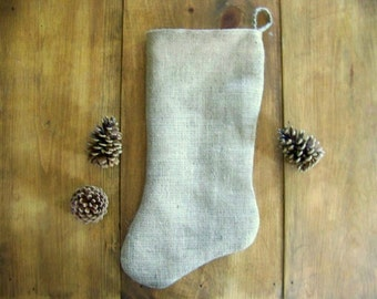 free shipping - burlap stockings - personalized - embroidery - chalkboard - christmas stocking - rustic - natural - farm house - decoration