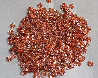100 Metallic Pink Goldenish Color/Round Sequins /3D Crimpled Texture/ KRS652