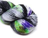 "Glam Rock Sparkle Sock Yarn - ""Creatures"" -  Handpainted Superwash Merino - 438 Yards"