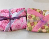 Set of 2 Pink Boppy Pillow Covers Patchwork and Floral  2 for 10  Nursing Pillow Cover   Nesting Pillow Cover  Nurture Pillow Covers