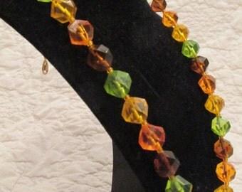 Vintage Necklace Retro 1970's multi color beads SALE