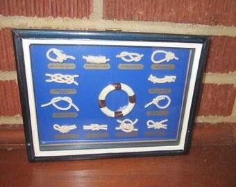 Vintage Nautical Knots Small Wall Hanging Display