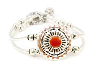 Silver Double Strand Bracelet, Silver Bracelet,Cuff Bracelet, Ladies Bracelet, Fashion Jewelry