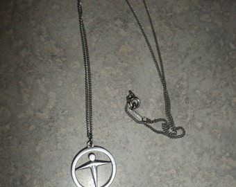 Tiffany & Co sterling silver Manpower necklace charm and chain
