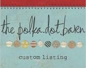 custom listing for Bethany