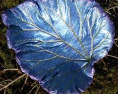 Garden Sculpture Set of 3 - RESERVED FOR MARYANN - created using from Live Hosta leaves (Colors from Leaf 5130, a rhubarb)