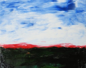 Clouds abstract landscape painting oil