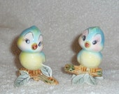 Vintage Napco Blue Bird PY Japan Lefton Salt and Pepper Shakers Bluebirds