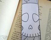 halloween coloring bookmarks skulls digital download