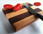 THICK Beautiful Reclaimed Hardwoods Small HERB and GARLIC Cutting Board
