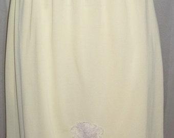 ON SALE Vintage Movie Star Yellow Nylon Tricot Half Slip Lace Large Average