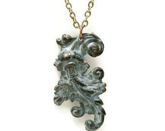 English Garden Style, Medieval Jewelry, Architectural Swirl, Woodland, Filigree, Cloister, Green Patina, Verdigris
