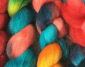 Hand dyed Polworth Top - 4 oz - Nik