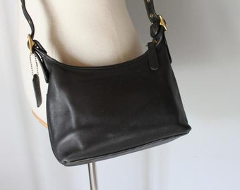 vintage BLACK LICORICE Coach crossbody bag