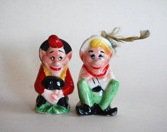 Vintage Elf Salt and Pepper Shakers