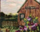 Lilacs By The Barn Large Needle Felting Kit