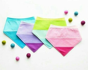Ombre colorblock baby bibs with snap