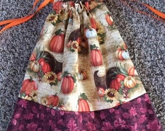 Fall Leaves, Pumpkins,  Reusable,  Drawstring bag, market bag, autumn
