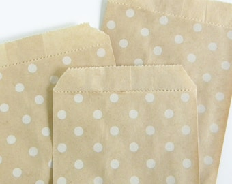 Kraft Polka Dot Party Bags  //  Treat Bags  //  Party Supplies  //  Set of 10