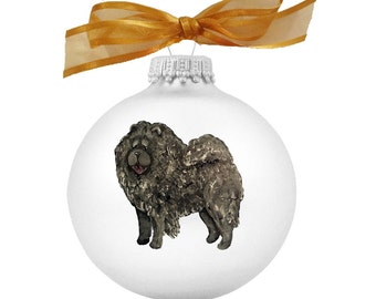 Chow Chow (Black) Hand Painted Christmas Ornament - Can Be Personalized with Name