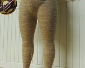 Tights for Chubby Blythe, Mimi Bobeck doll, Plus sized Blythe, Oatmeal #4