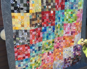 Monochromatic Scrap Quilt