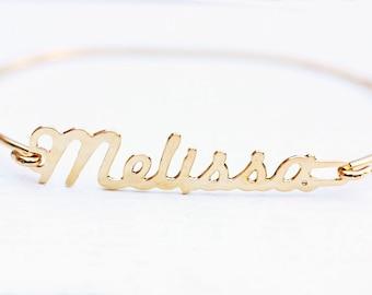 Melissa Name Bracelet, Name Bracelet, Name Cuff, Melissa, Melissa Name, Name Plate, Name Plate Bracelet, Gold Bracelet