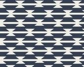 Navy, Tomahawk, Stripe, Dark, Blue, White, Ax, Arizona, April, Rhodes, Designer, Cotton, Art, Gallery, Fabrics, Baby, Unisex, In Custom Cuts