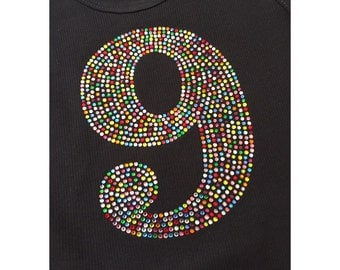 Large Filled in Rhinestone Number---Age