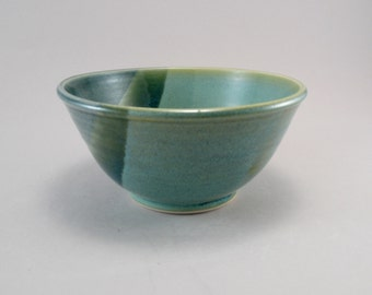 Pottery Bowl, Serving Dish, Stoneware, Teal, Ready to Ship