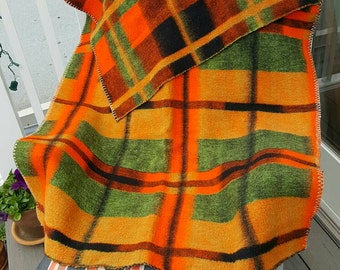 Great mid-century wool lap blanket