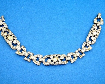 Early Trifari Rhinestone Bracelet