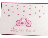 Love is in the Air Bike Card / Pink and Hot Pink - 5 pack