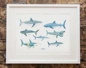 Some Sharks Print