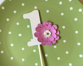 Cupcake Topper One Topper - Pink
