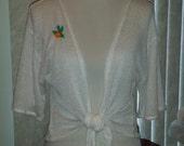 Primrose front tie shrug size med/large Summer Sale