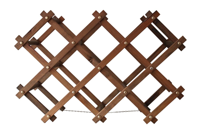 Vintage Wooden Accordion Wine Rack