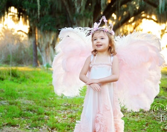 Angel wings in Pink with bling