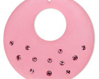 Focal Resin Crystal Hot Pink - 41x40x5mm - TD-0813-T