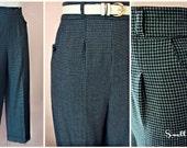 Swell Dame 1940's slacks trousers wool blend custom repro