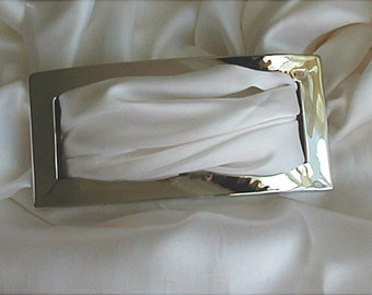 Vintage Chrome Finish Large Belt Sash Buckle
