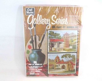 Vintage Oil Paint By Numbers Set. Un-Opened. Circa 1970's.