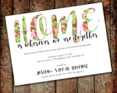 Floral Housewarming Invitation - Digital Download