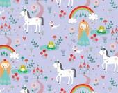 Riley Blake Fabric Princess Dreams Main Purple, Choose your cut