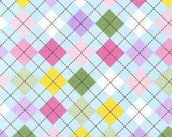 Remix Argyle Spring Robert Kaufman Fabric, Choose your cut