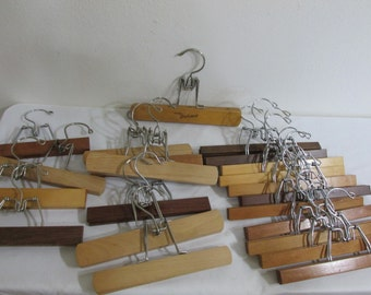 Note Holding Clamp Wood Pants or Skirt Hanger Photo Holder Priced Each