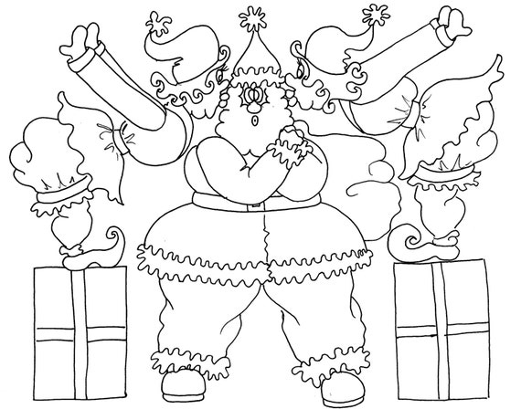 Create Your Own Christmas Elf Coloring Page