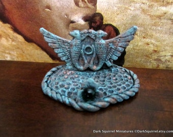 Horus Birds Book/Scroll Stand dollhouse miniature in 1/12 scale