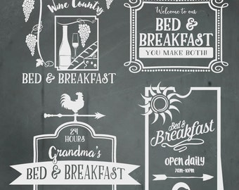 Bed and Breakfast SVG Files, Kitchen Wall Art Cuttable SVG, Svg, Eps, Gsd, Ai, Vinyl Cut Files for Silhouette, Cricut, and more